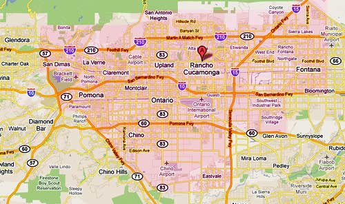Service Area for A A Appliance Service in Rancho Cucamonga and